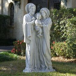 Ky112448 - The Holy Family Sculpture - Estate Size - Antique Stone Finish