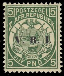 Transvaal 213 Sg237 - Coat Of Arms V.r.i. Provisional Pa73540