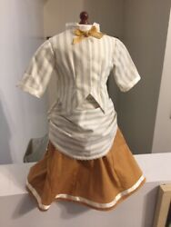 Eucmade To Fitamerican Girl Kirsten 1870and039s Cream And Gold Bustle Dressaddy