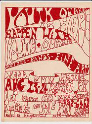 Rare Summer Of 1967 San Francisco Youthquake Festival Concert Flyer Poster