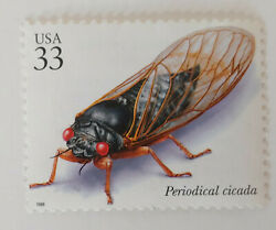 Collectible 1999 33 Cent Uncirculated Stamp Periodical Cicada New Unused