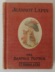 Antique Benjamin Bunny Beatrix Potter Book French Color Ill Hardcover 1st Ed