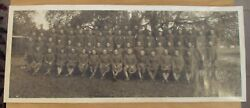Rare 1917-18 Wwi 'infantry Soldiers' Panoramic Photocamp Fremont Ca Jd Givens