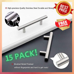 3.5 Inch 15 Pack Drawer Pulls Brushed Nickel Cabinet Handles 3-1/2in 90mm Center