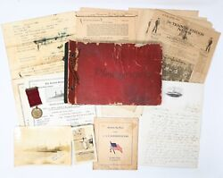Pre-wwii Us Navy Grouping Named Good Conduct Medal Photo Album Destroyer Rare