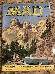 Mad Magazine 31 February 1957 Mount Rushmore Nice Comic As Pictured