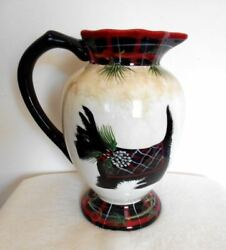 Old Large Ceramic Scottie Terrier Pitcher Certified International 11quot; High Dog