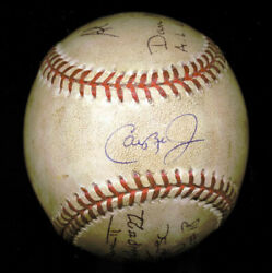 Cal Ripken Jr. - Baseball Game Used Signed Circa 1995 With Co-signers