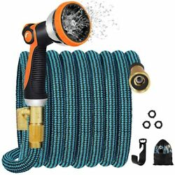 Expandable 50 Ft Garden Water Hose 10 Functions Nozzle And Durable Connectors