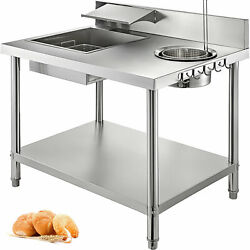 New Breading Table Fried Food Prep Breader Station Chicken Fish Vegetable Fry
