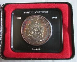 1971 Royal Canadian Mint Uncirculated Silver Dollar Coin In Original Packaging