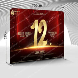 10ft Custom Straight Tension Fabric Trade Show Displays Booth Backdrop Wall