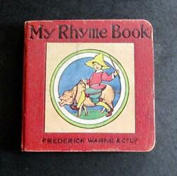 1925 Miniature Childrenand039s Book My Rhyme Book Rare Dumpty Series By M A Peart