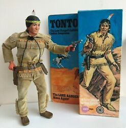 Vintage Tonto Figure With Original Box, 1973. Part Of The Lone Ranger Collection