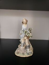 Lladro Figurines Retired, Fairy Godmother With Children