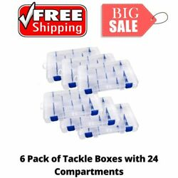 6 Pack Adjustable Tuff Tainer With Zerust Outdoor Fishing Tackle Storage Box New