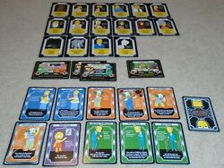 2003 The Simpsons Trading Card Game 31 Card Lot Wotc Oop