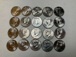 Uncirculated Nifc Kennedy Half Dollars, Various Dates Roll Of 20, 10 Face Value
