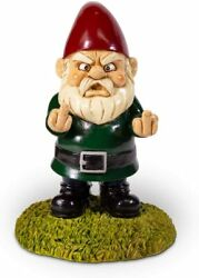 Kwirkworks Funny Garden Gnome - Flipping The Double Bird Middle Finger Lawn S...