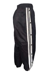 New Vintage Lined Windbreaker Track Pants Ankle Zip Tapered Fit Menand039s Black Xxl
