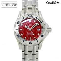 Authentic Omega Seamaster 300m 2582 61 Women's Watch Quartz Red Dial N516399573