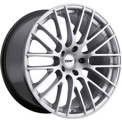 4 Staggered 19x9 / 19x10.5 Tsw Max Hypersilver 5x4.5 +30/+25 Wheels Rims