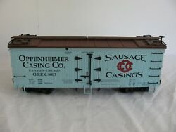 Charles Ro / Usa Trains 8003 Oppenheimer Sausage Casings Billboard Reefer Boxcar