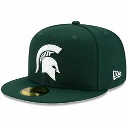 Michigan State Spartans New Era Team Detail 59fifty Fitted Hat - Green