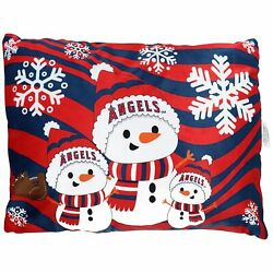 Los Angeles Angels 20and039and039 X 26and039and039 Holiday Snowman Bed Pillow