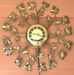 Vintage Decorative Wall Clock 1940's By United Corp Ny Works