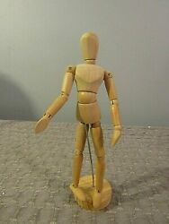 Vintage Artists Articulated Lay Figure Wood Model Mannequin 9quot;