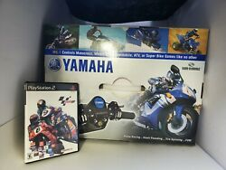 New Yamaha Motor Sports Controller For Ps2 + Used Motogp Motorcycle Game