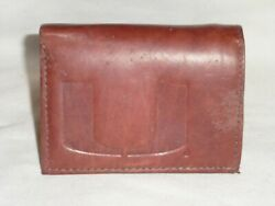 Miami Hurricanes Leather Trifold Wallet  New  Dkb Z Ins --sd