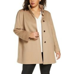 Nwt Fleurette Stand Collar 100 Wool Car Coat In Camel Size Us 22 Retail 1049