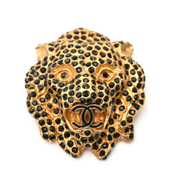 Authentic Lion Coco Mark Brooch 01a Gold Vintage Beauty Nice Q454758843