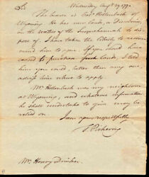Timothy Pickering - Autograph Letter Signed 08/29/1792