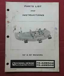 Genuine 1977 Wheel Horse 42 And 48 Mower Deck Operators And Parts Manual