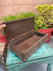 Indian Old Antique Handcrafted Solid Wooden Jewelry Box Storage Box