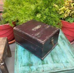 Indian Antique Wooden Handcrafted Jewelry Box Storage Box With Handle And Latch