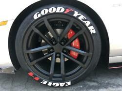 Permanent Tire Lettering Sticker White Goodyear Eagle F1 Sticker 10pc Decal Set