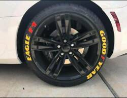 Permanent Tire Lettering Sticker Yellow Goodyear Eagle F1 Sticker 10pc Decal Set