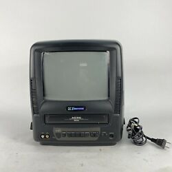 Vintage Emerson Ewc-0902 Analog Tv Television W/ Built-in Vcr Tested