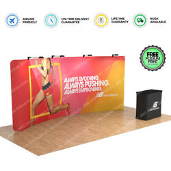 20ft Portable Trade Show Display Booth Set Exhibition With Case Counter Lights