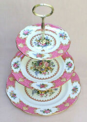 Royal Albert Lady Carlyle Three Tier Cake Stand