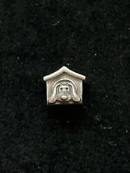 Authentic Pandora Dog House Puppy Red Heart Sterling Silver Charm NEW