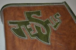 Jesus Leather Book Cover W/ Living Bible Large Print Edition 1979 Hc Tyndale Vtg