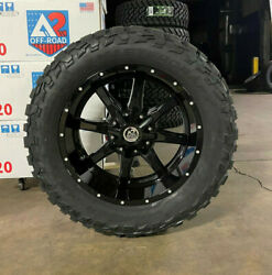 20x10 Black A2 Off Road Mo970 33 Mxt Mt Wheels Tires 6x135 Ford F150 Expedition