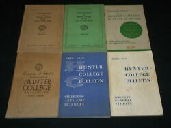 1952-1960 Hunter College City Of New York Bulletins Lot Of 6 - O 2387