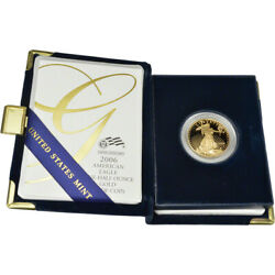 2006-w American Gold Eagle Proof 1/2 Oz 25 In Ogp
