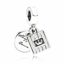 Authentic Pandora Shopping Queen Pendant Sterling Silver 925ale Charm 791985
